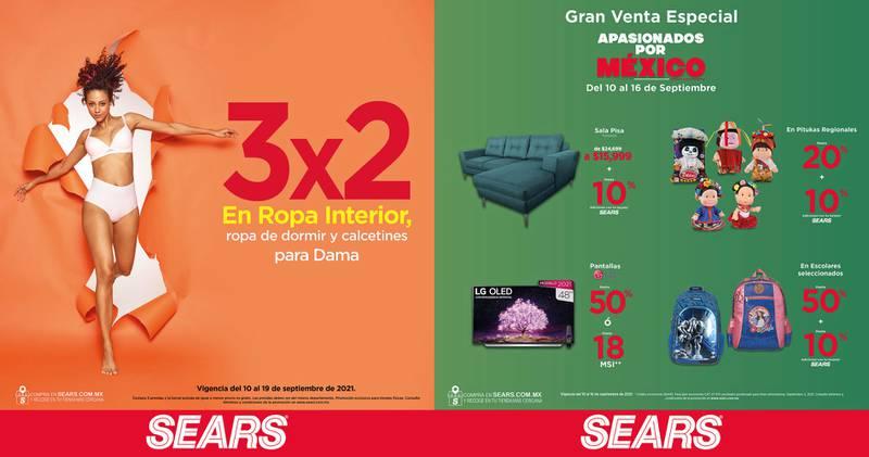 Anuncio Sears edición CDMX del 10 de Septiembre del 2021, Página 21